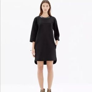 Madewell Black XS Pique Ponte Dress